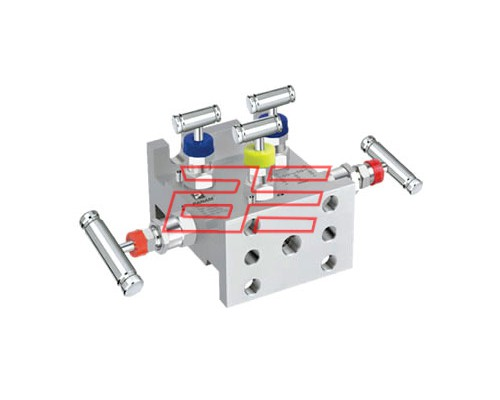 5 Valve Manifold Pipe To Flange (Model No - 5VM-TT-FF) Tee Type